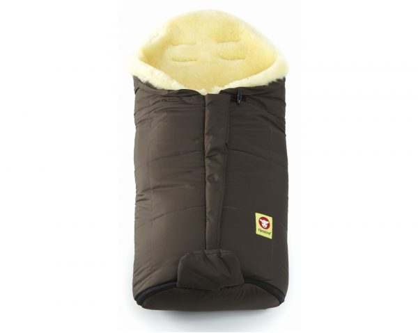 Double-O Cozy Brown Fareskind Baby Bunting Bag